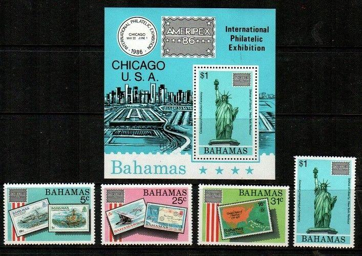 Bahamas Scott 597-601,601a Mint NH (Catalog Value $21.90)