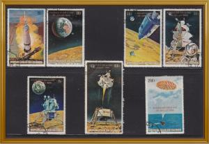 Guinea 541-547 CTO 1969 Man on the Moon - FRENCH SET