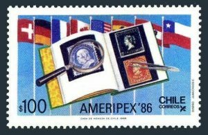 Chile #721 F-VF Mint NH ** AMERIPEX 86, Stamp on Stamp