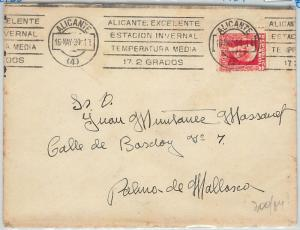 61726 -  SPAIN - POSTAL HISTORY: MECHANICAL  POSTMARK  1934: WEATHER Alicante