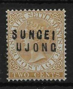 MALAYA SUNGEI UJONG SG11 1881 2c BROWN OVPT TYPE 12+14 MTD MINT