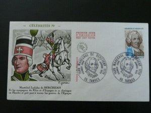 history of Hungary Marechal Ladislas de Bercheny FDC 44268