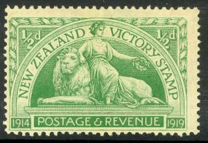 NEW ZEALAND 1920 1/2d VICTORY Issue Sc 165 MLH