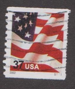US #3631 Old Glory Used PNC Single plate #S1111