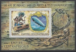 Central African Empire  MNH  UPU  1978 Zeppelin