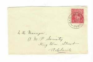 APH1489) Australia 1931 2d Red KGV Die II Small Cover