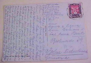LIBYA  TRIPOLI 1938 TO GERMANY on PICTURE CARD