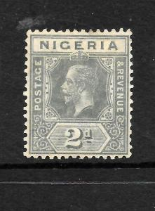 NIGERIA  1914-29  2d   KGV   MH    SG 3