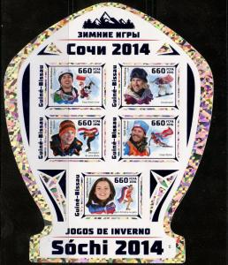 GUINEA BISSAU 2016 SOCHI WINTER  OLYMPIC GAMES 2014 IMPERFORATE  SHEET MINT NH