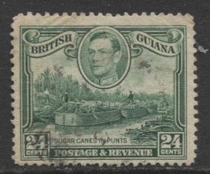 British Guiana - Scott 234a - KGVI- Definitive -1938 - Used - Single 24c Stamp