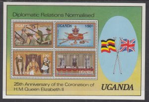 Uganda 218a Souvenir Sheet MNH VF