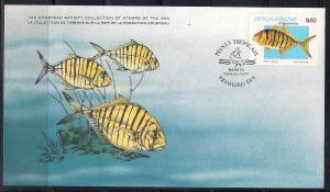 Mozambique FDC card Sc 643 Cousteau Society Kingfish  L76