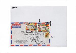 CE152 Kenya Nairobi 1973 Air Mail Cover
