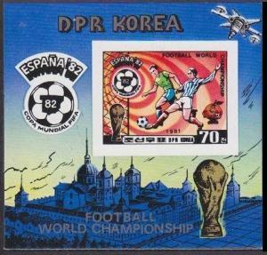 1981Korea,North 2104/B94b 1982 World championship on football of Spain 20,00 €