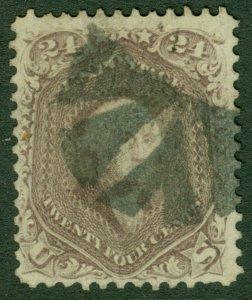 EDW1949SELL : USA 1862 Scott #70 Used. Nice stamp. Catalog $300.00.