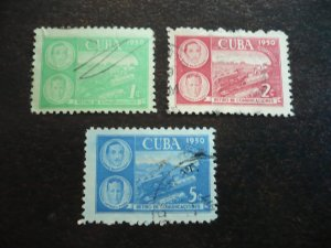 Stamps - Cuba - Scott# 452-454 -Used Set of 3 Stamps