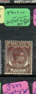 MALAYA JAPANESE OCCUPATION  PENANG (P1707B)  5C DN THIN I IN NIPPON SG J80  MOG