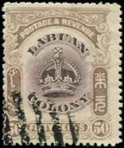 Labuan SC# 108 Crown 50c USED