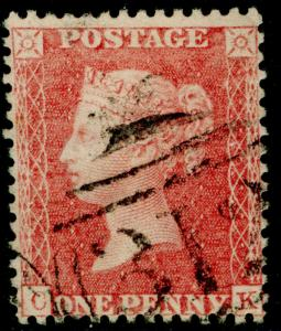 SG38, 1d pale red, LC14, FINE USED. Cat £35. CK