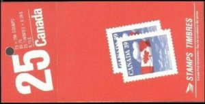 Canada 1166b booklet (25), MNH. Flag and Clouds, 1987.