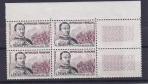 FRANCE  1961  S G  1525  15C + 5C  VALUE  BLOCK OF 4  MNH  NO F9