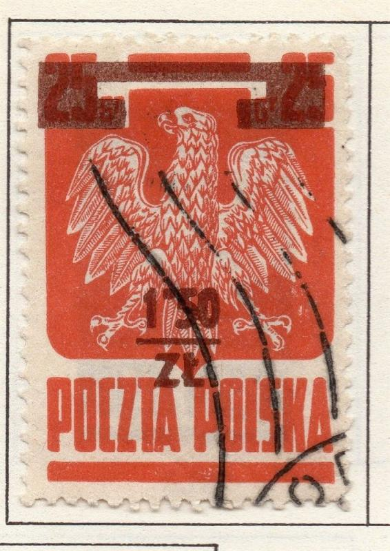 Poland 1944-46 Early Issue Fine Used 1.50zt. Surcharged 190925