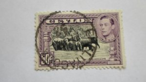 STAMP OF CEYLON USED HINGED SC # 273