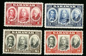 Sarawak Stamps # 155-8 VF OG NH Catalog Value $20.50