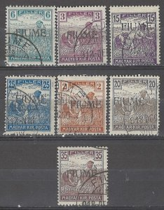 COLLECTION LOT # 4889 FIUME 7 STAMPS 1918 CV+$20