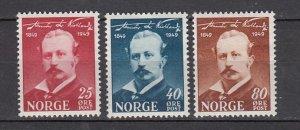 J26394  jlstamps 1949 norway set mh #295-7 artist