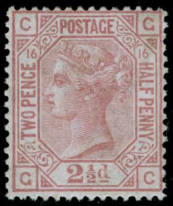 SG141, 2½d rosy mauve PLATE 16, NH MINT. Cat £525. GC