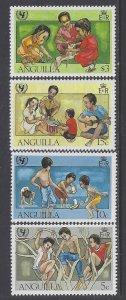 Anguilla, Scott #448-451; UNICEF Anniversary, MNH