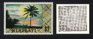 Kiribati Palm tree Evening Scene 1v $2 Watermark variety SG#98aw