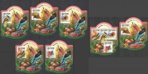 LX588 2015 SIERRA LEONE BIRDS OF PARADISE !!! SILVER KB+BL+5 UV CARDBOARD MNH
