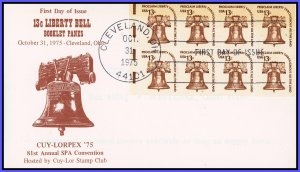 US FDC #1595c 13c Liberty Bell - Cuy-Lor Stamp Club Cachet
