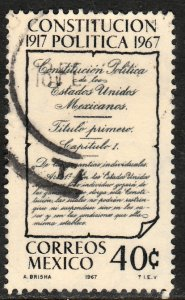 MEXICO 976, 50th Anniversary of the Constitution. Used  F-VF. (106)
