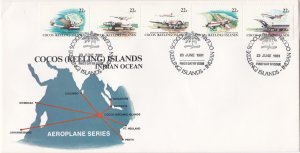 Cocos Islands # 72a, Air Service to the Indian Ocean, First Day Cover