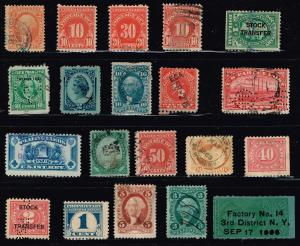 US STAMP BOB, REVENUE  STAMP COLLECTION LOT  #W5
