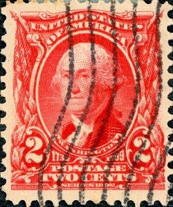 #301 – 1903 2c Washington, carmine. Used.