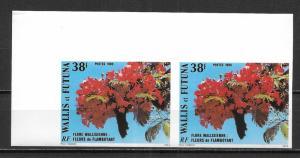 Wallis and Futuna Islands 332 Flamboyants IMPERF PAIR MNH