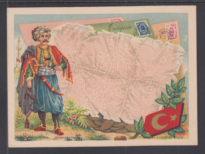 Bognard, Paris #22 circa 1900 Stamps & Banknotes of Turkey Card