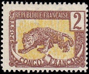 French Congo Scott 36 Leopard - MH