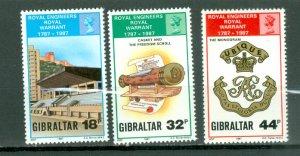 GIBRALTAR ENGINEERS #505-507...SET...MNH...$7.25