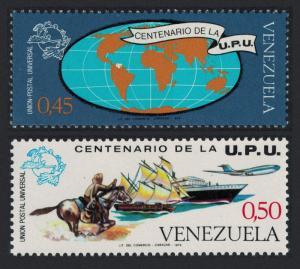 Venezuela Horse Ship Airplane Centenary of UPU 2v SG#2277-2278 SC#1087-1088