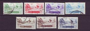 J24015 JLstamps 1955 lebanon set used #c200-6 snow sking
