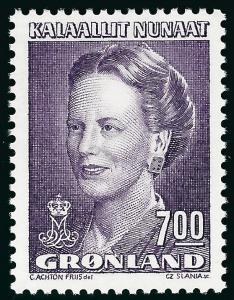 Nice Greenland Slania #229 Queen Margrethe MNH VF...Kalaallit is Hot now!