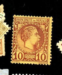 Monaco #4 Mint FVF OG Paper On Back Cat$85