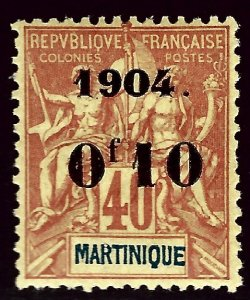 Martinique #57 Mint VF SCV$30.00...Popular Country!
