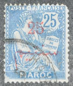 DYNAMITE Stamps: French Morocco Scott #33 (crease) – USED