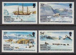 British Antarctic Territory 121-4 Expedition mnh